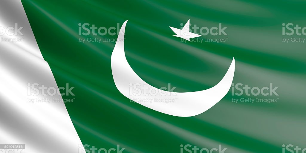Flag of Pakistan waving in the wind. royalty-free stock vector art
