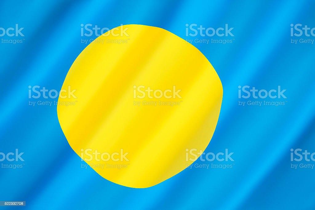 Flag of Palau stock photo