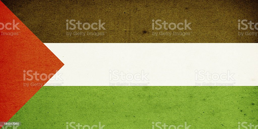 Flag of Palestine Close-Up (High Resolution Image) stock photo