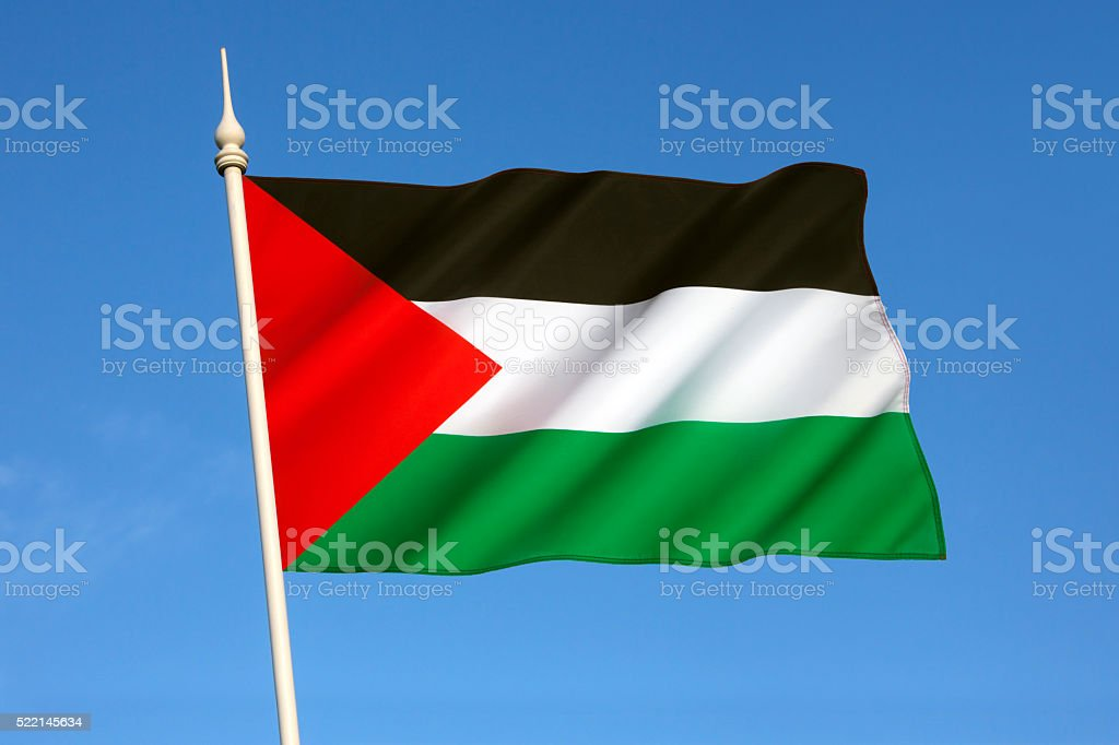 Flag of Palestinian stock photo