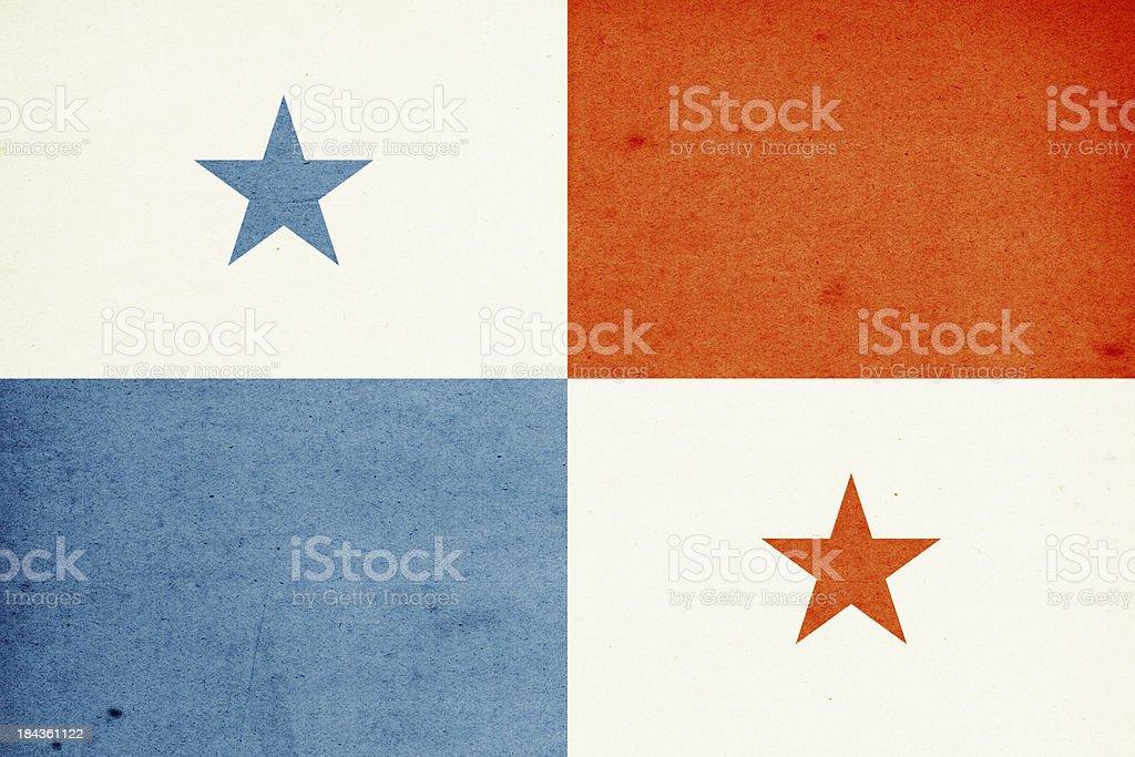 Flag of Panama Close-Up (High Resolution Image) stock photo