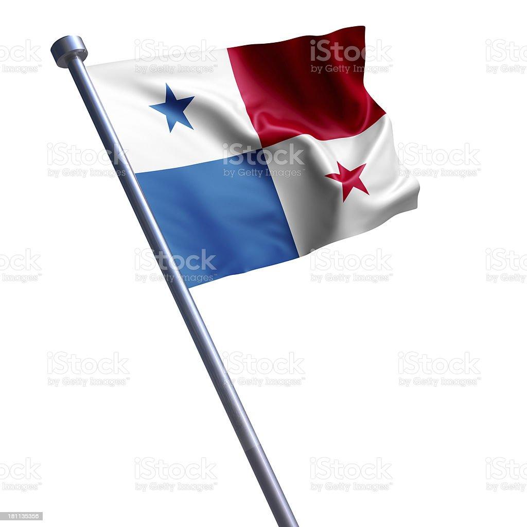 Flag of Panama isolated on white stock photo