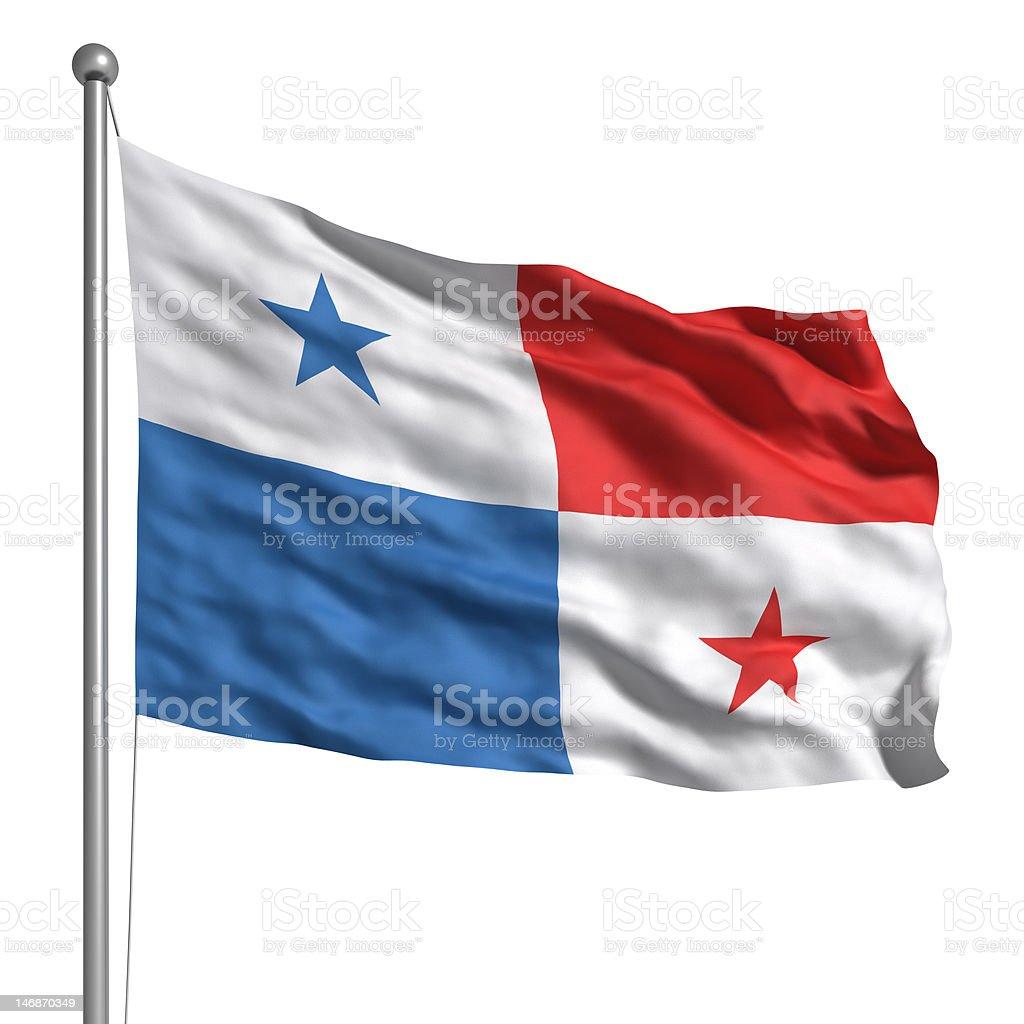 Flag of Panama (Isolated) stock photo