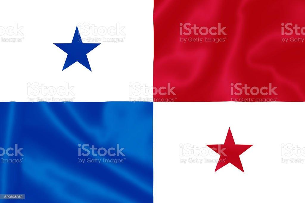 Flag of panama. stock photo