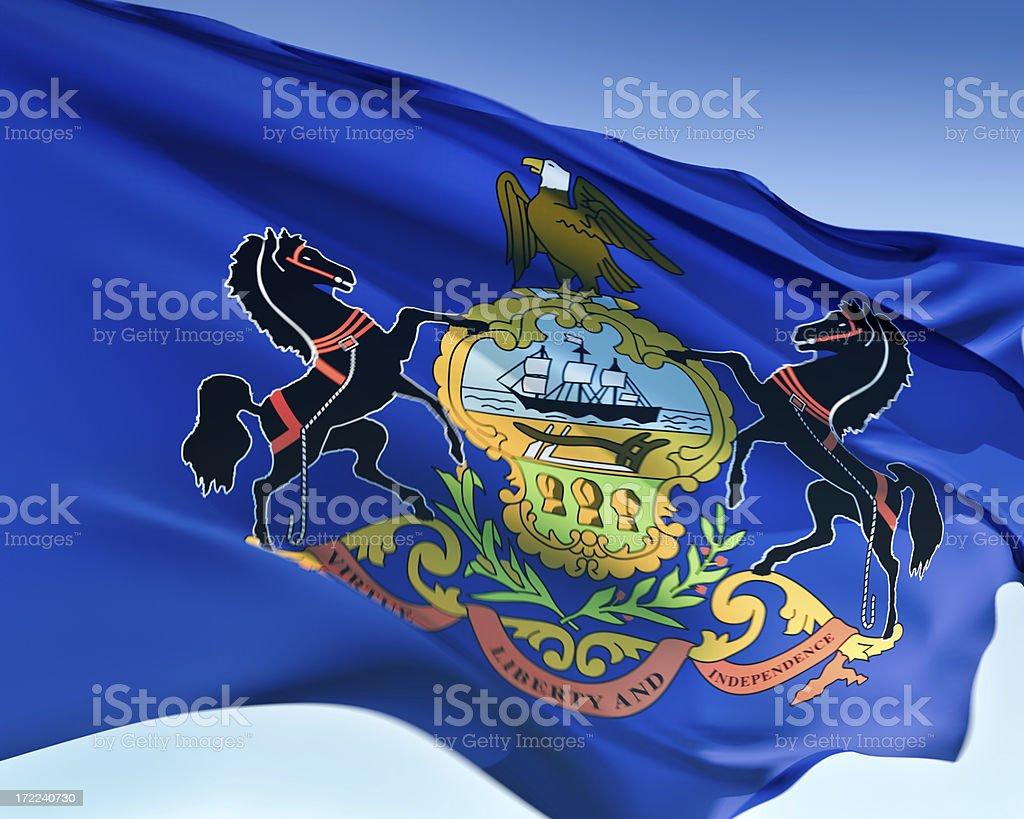 Flag of Pennsylvania royalty-free stock photo