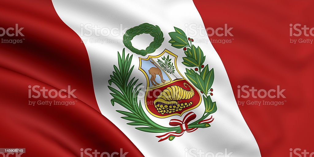 Flag Of Peru royalty-free stock photo
