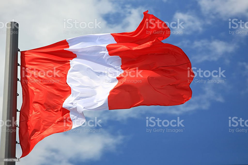 Flag of Peru stock photo