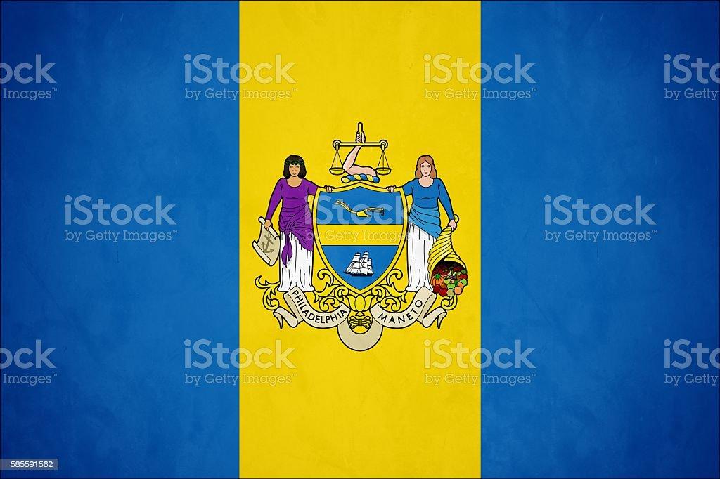 Flag of Philadelphia, Pennsylvania stock photo