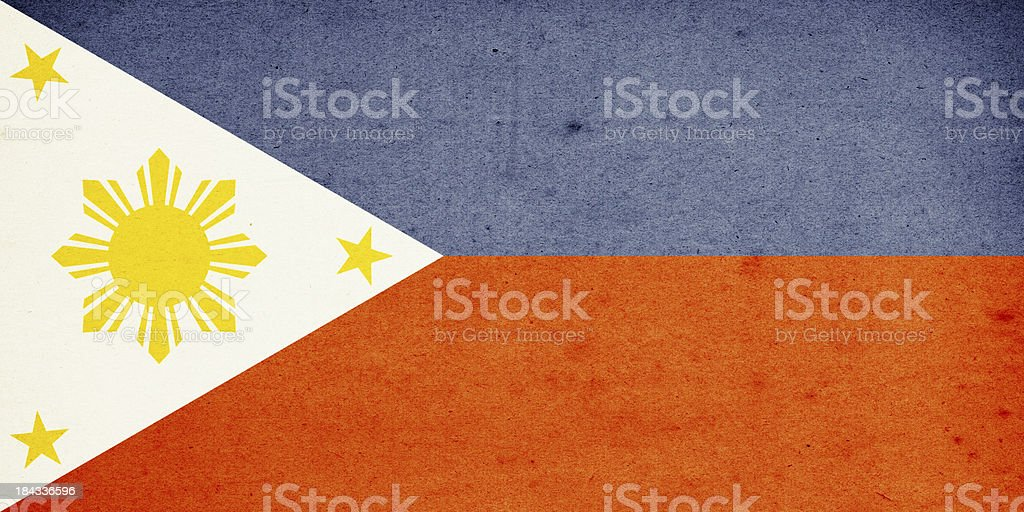 Flag of Philippines Close-Up (High Resolution Image) stock photo