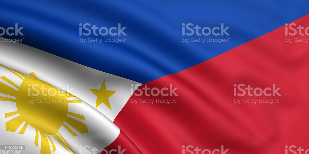 Flag Of Philippines royalty-free stock photo