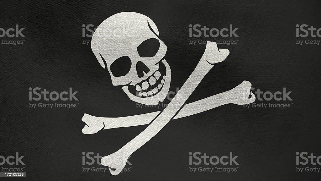 3D flag of Pirates stock photo