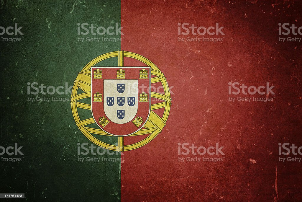 Flag of Portugal royalty-free stock photo
