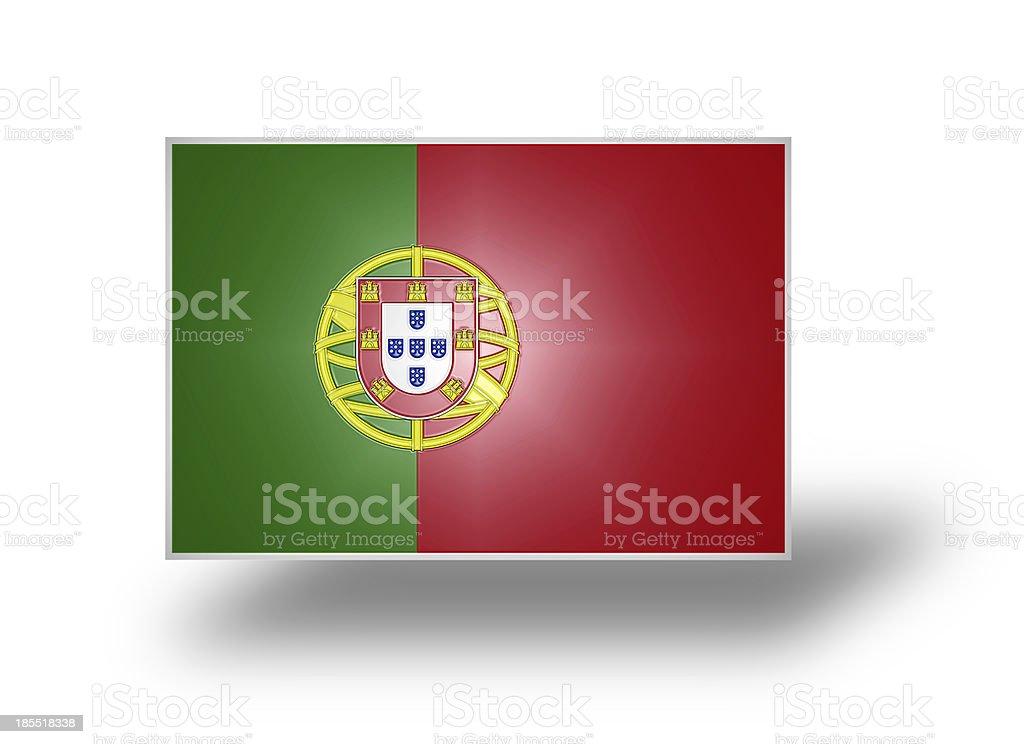 Flag of Portugal (stylized I). stock photo