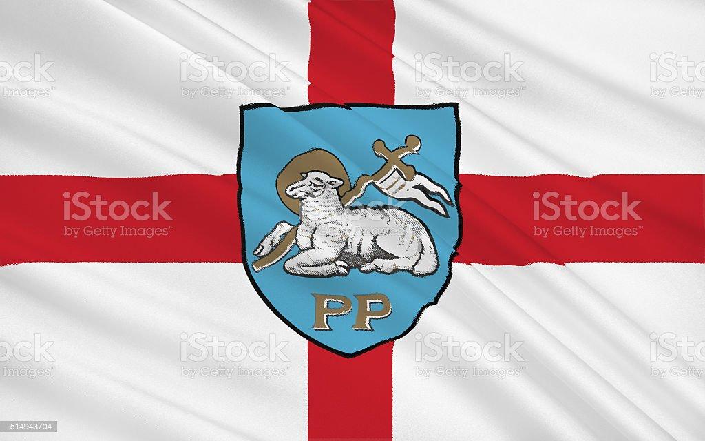 Flag of Preston city, England stock photo