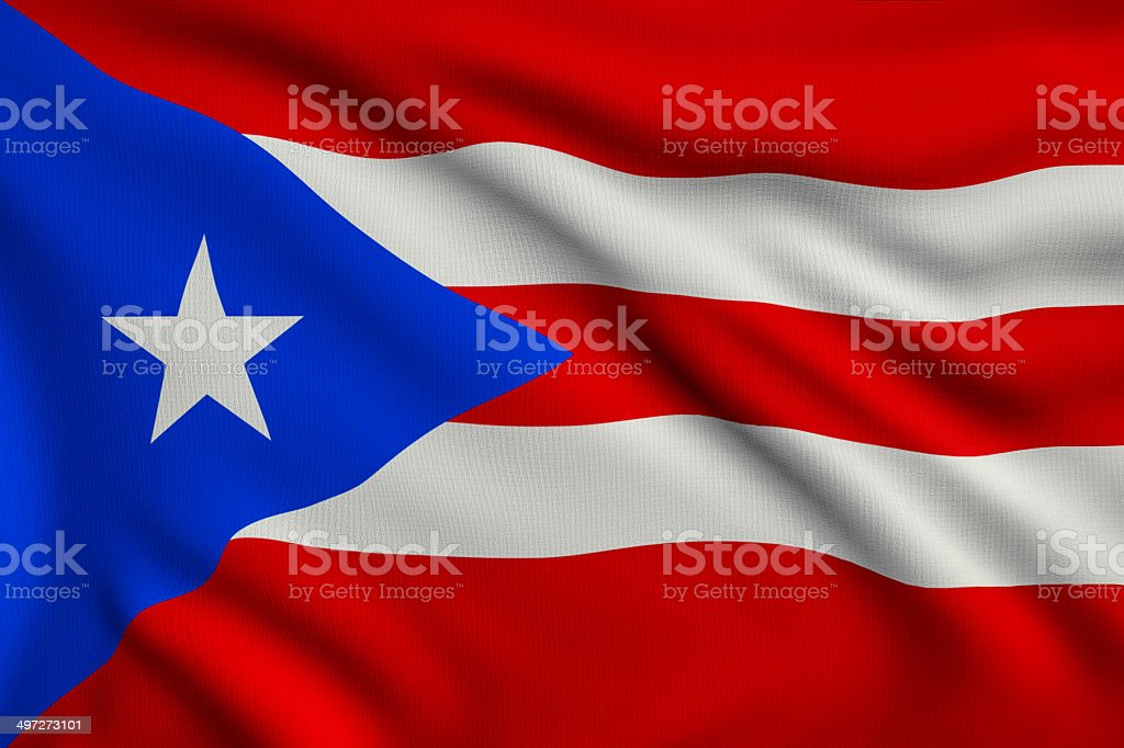 Flag of Puerto Rico royalty-free stock photo