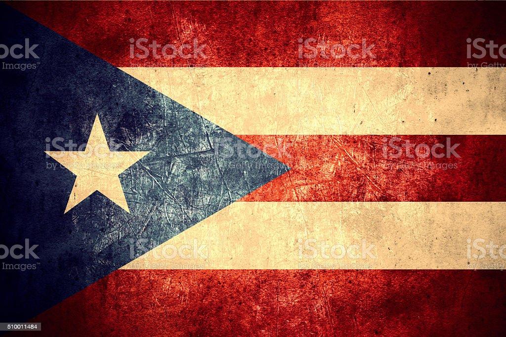 flag of Puerto Rico stock photo