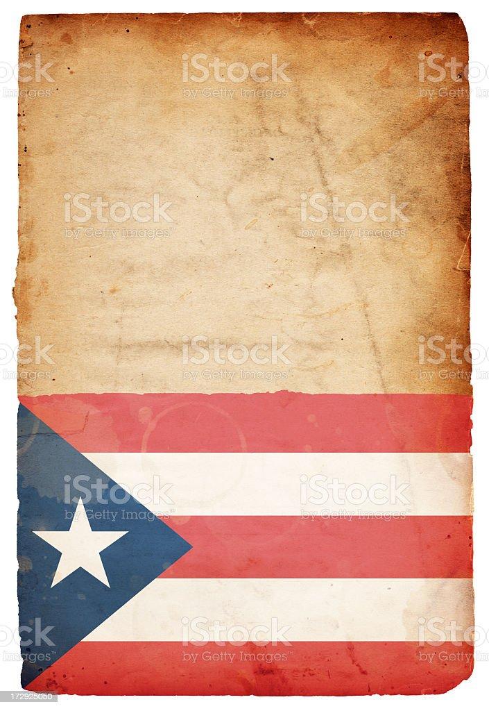 Flag of Puerto Rico XXXL royalty-free stock photo