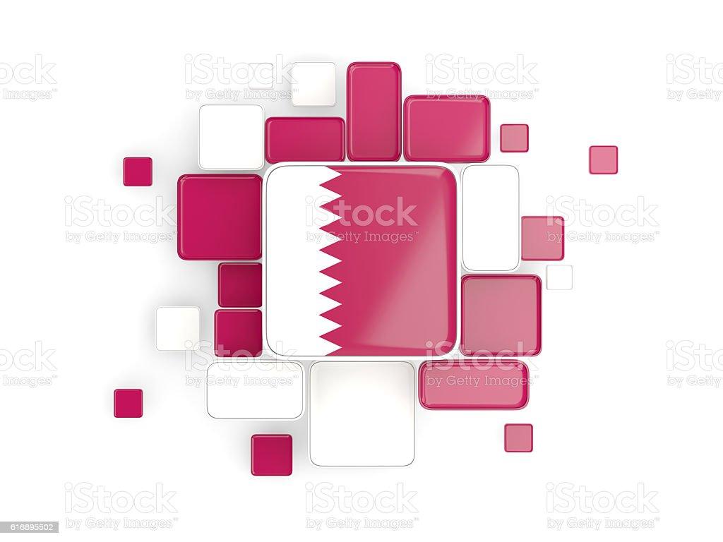 Flag of qatar, mosaic background stock photo