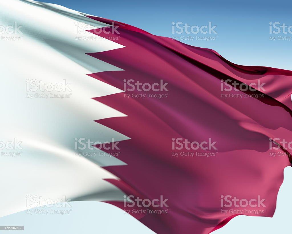 Flag of Qatar stock photo