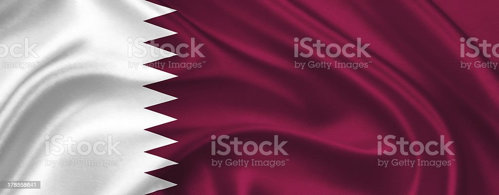 flag of Qatar royalty-free stock photo
