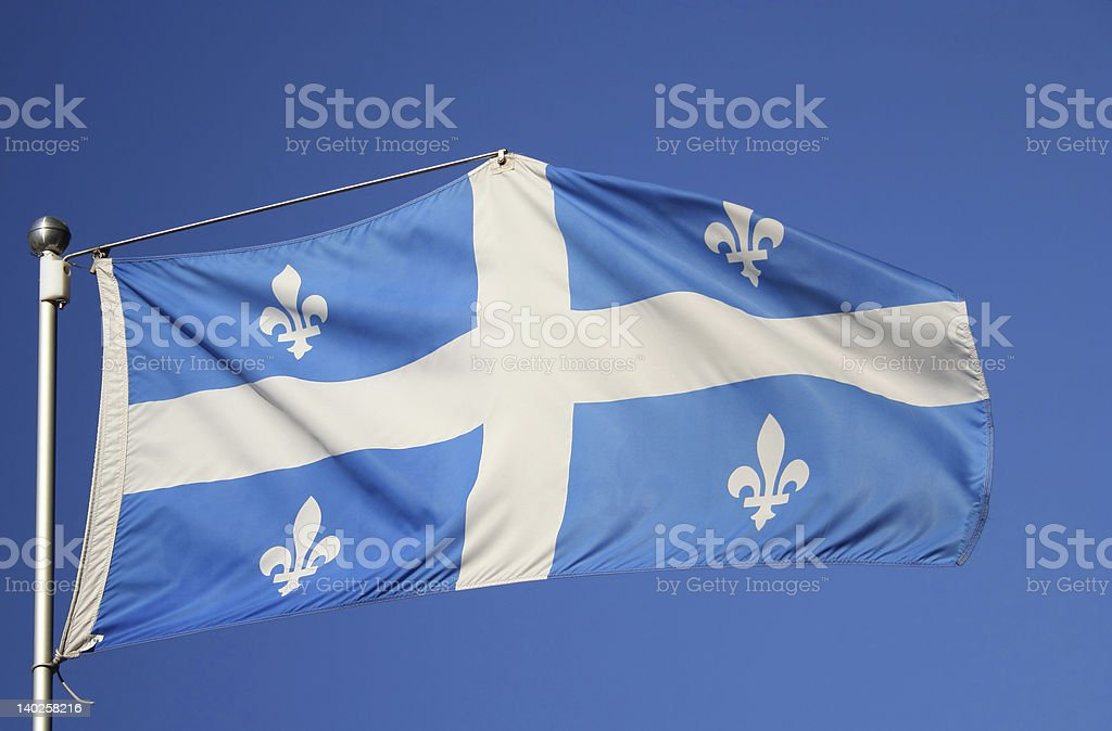 flag of Quebec royalty-free stock photo