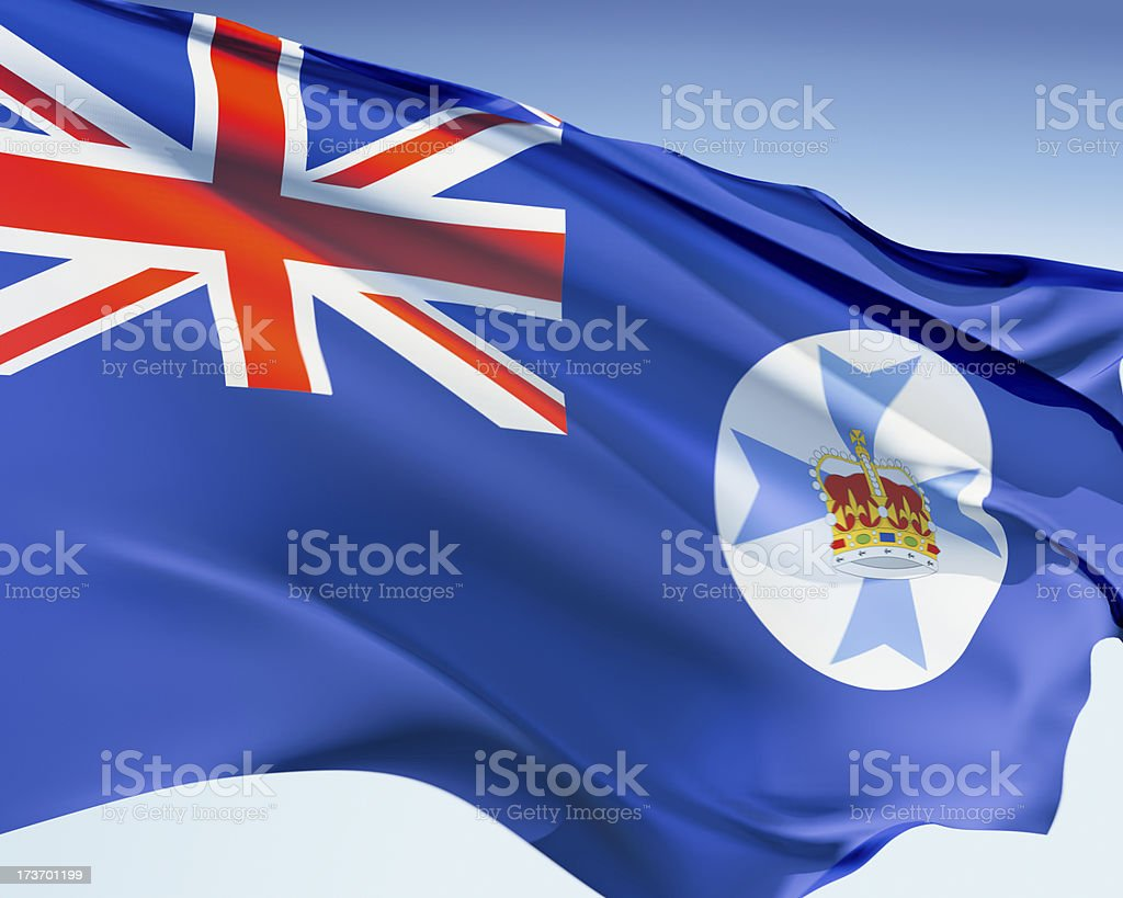 Flag of Queensland royalty-free stock photo