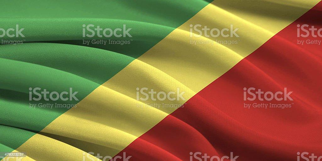 Flag of Republic  Congo stock photo