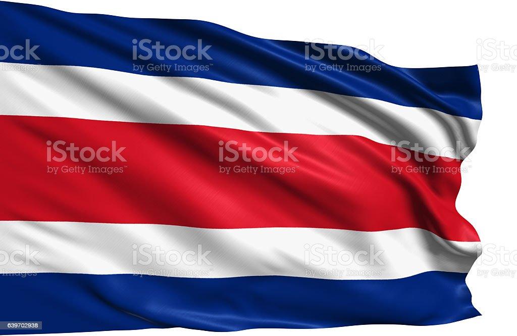 flag of Republic of Costa Rica stock photo