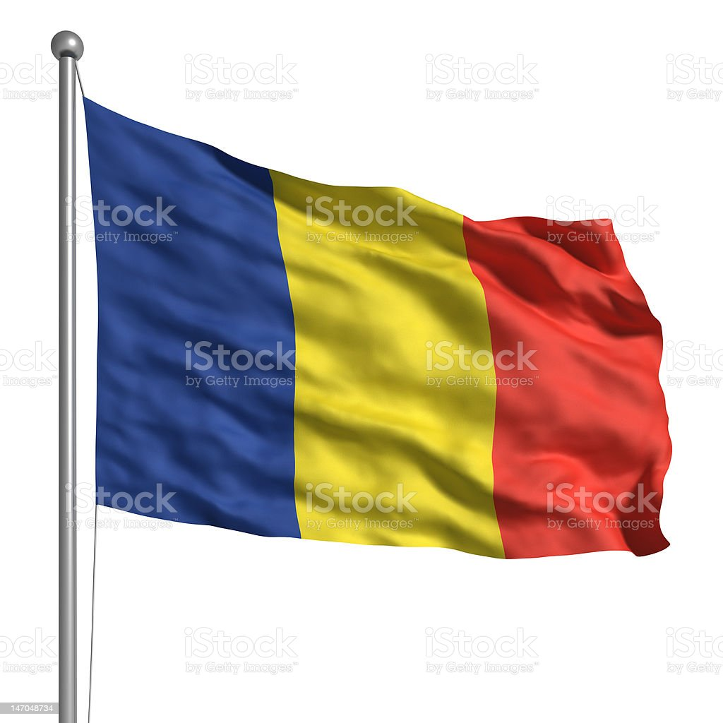 Flag of Romania (Isolated) royalty-free stock photo