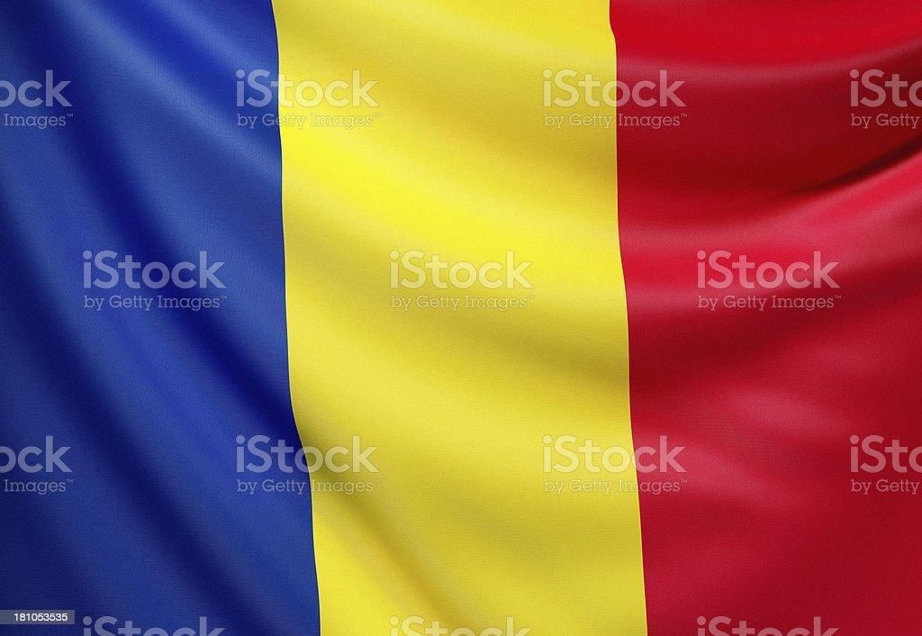 Flag of Romania royalty-free stock photo