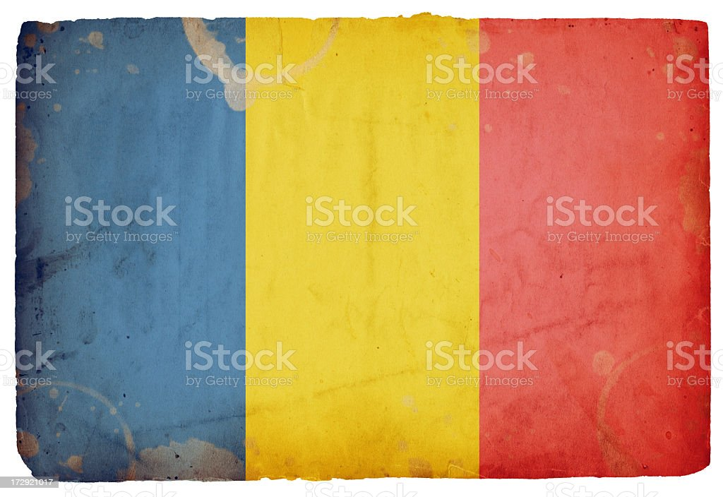 Flag of Romania XXXL royalty-free stock photo