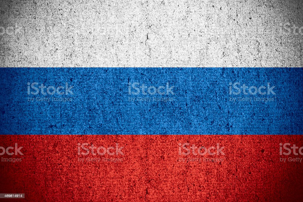 flag of Russia Federation stock photo