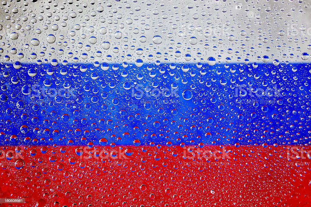 Flag of Russia royalty-free stock photo