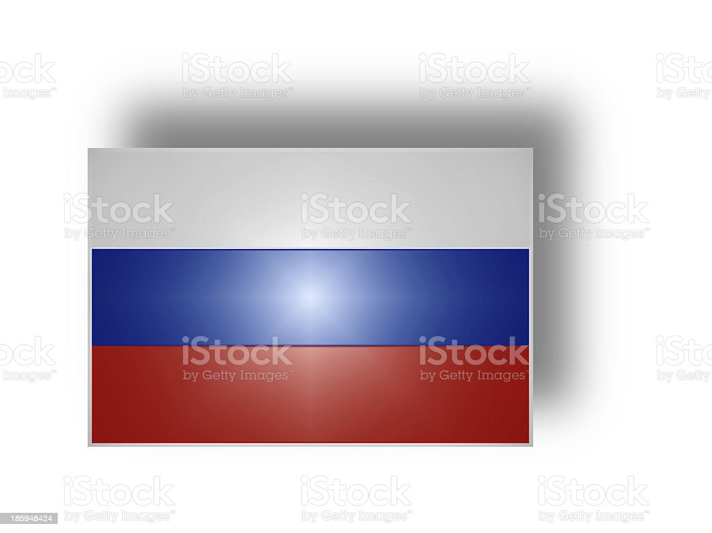 Flag of Russia (stylized I). royalty-free stock photo