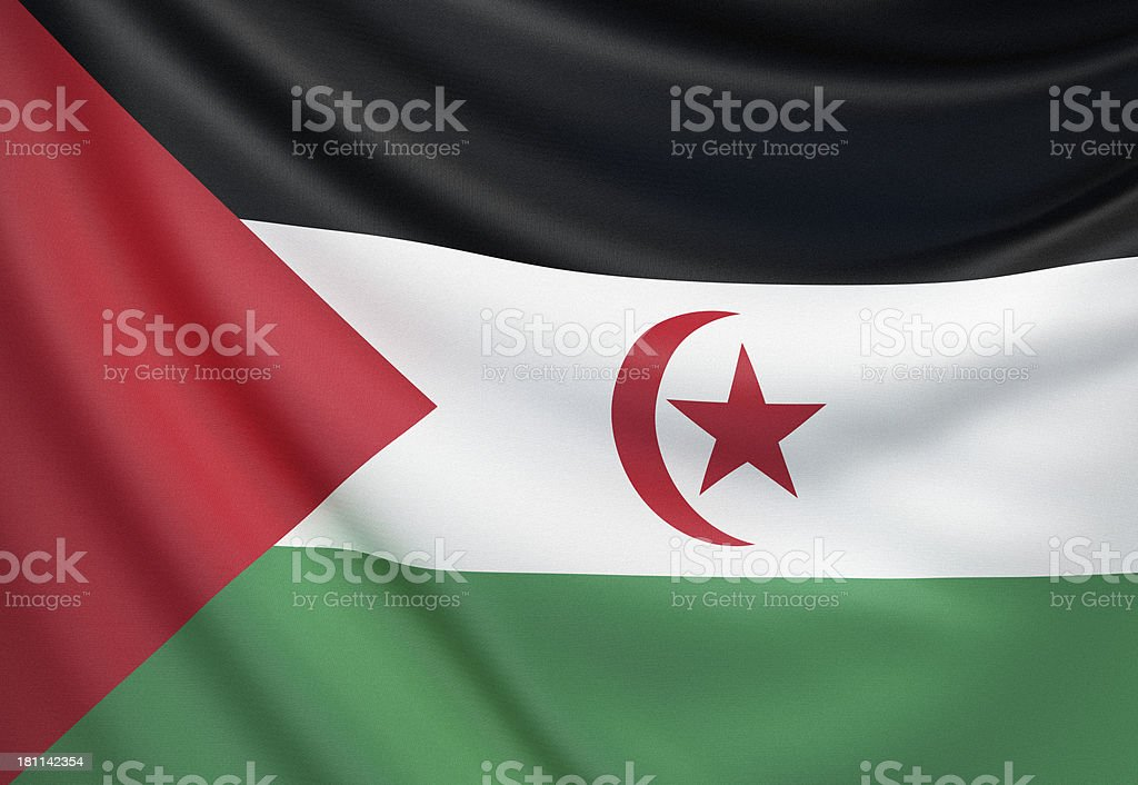 Flag of Sahrawi Arab Democratic Republic stock photo