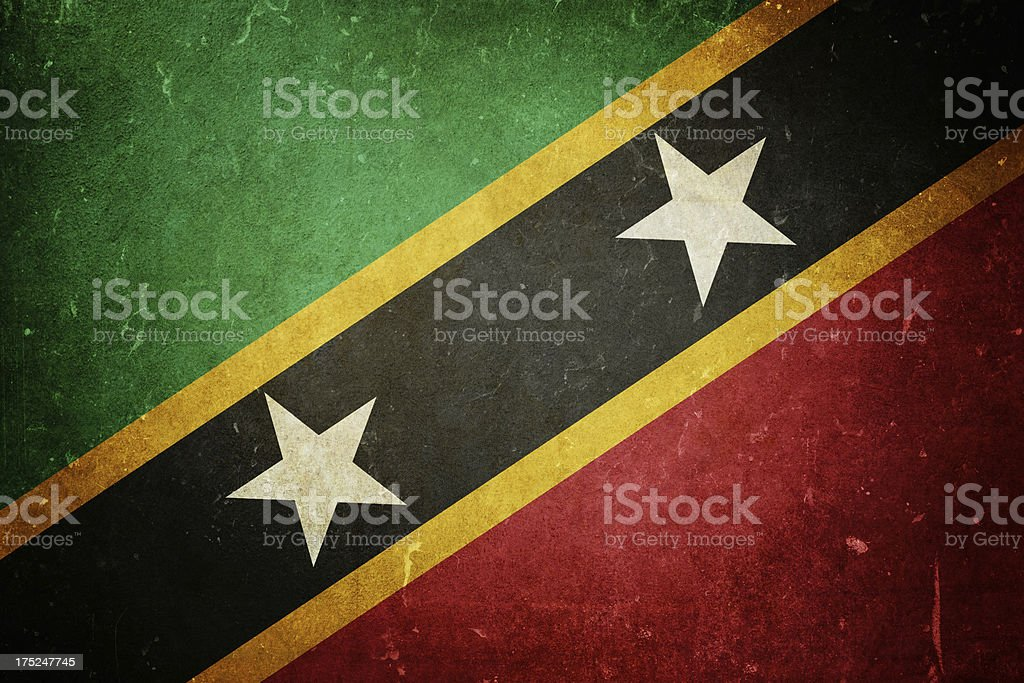 Flag of Saint Kitts and Nevis royalty-free stock photo