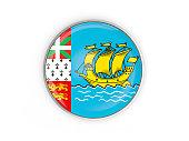 Flag of saint pierre and miquelon, round icon
