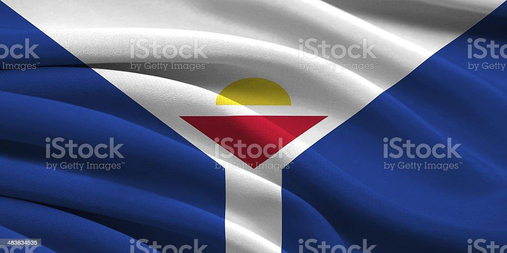 Flag of Saint-Martin stock photo