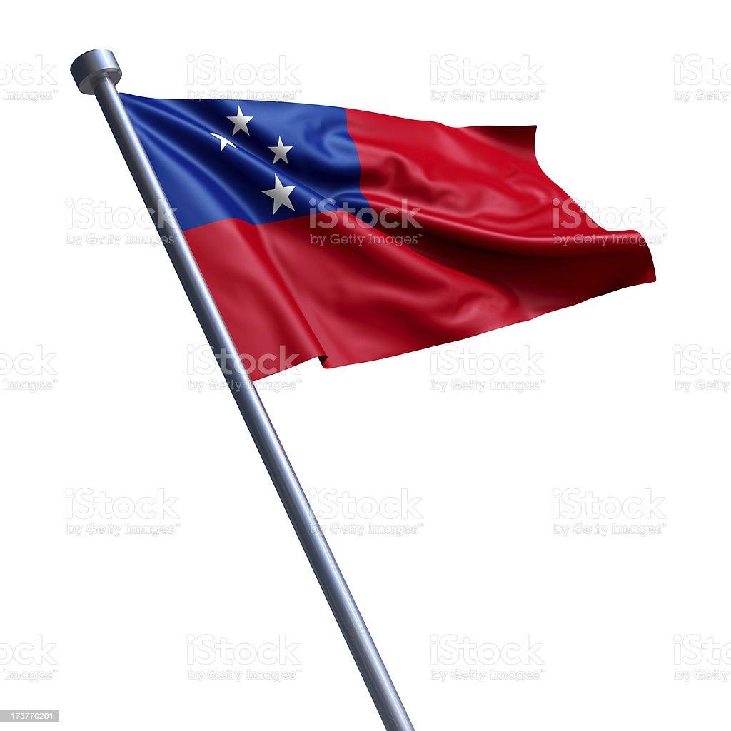 Flag of Samoa isolated on white stock photo