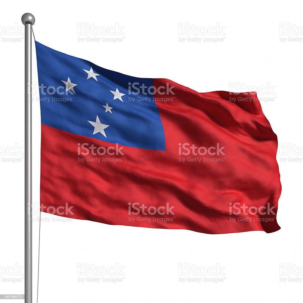 Flag of Samoa (Isolated) stock photo
