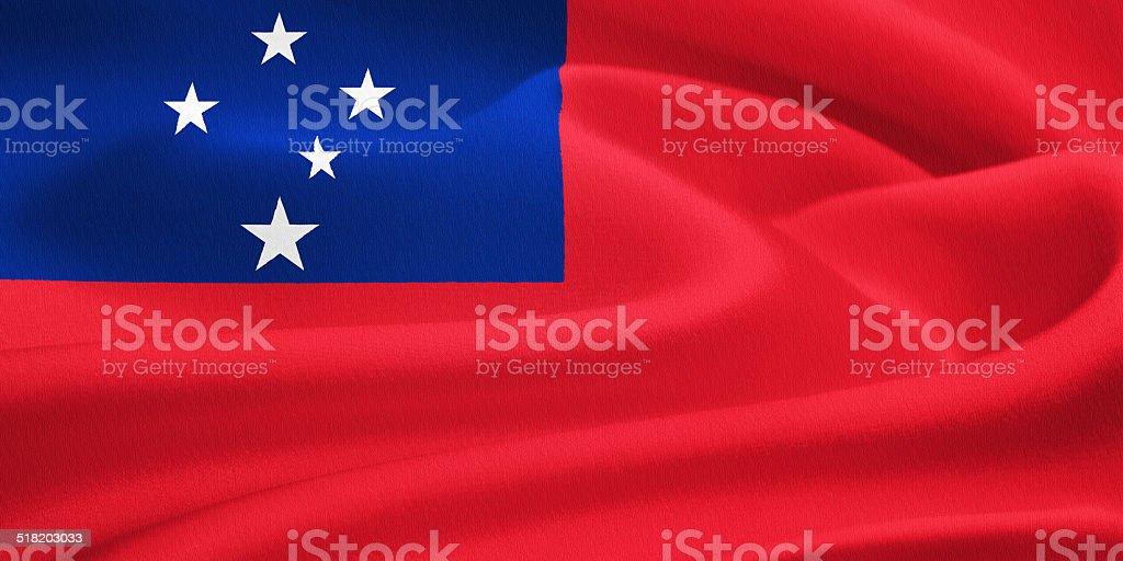 flag of Samoa stock photo