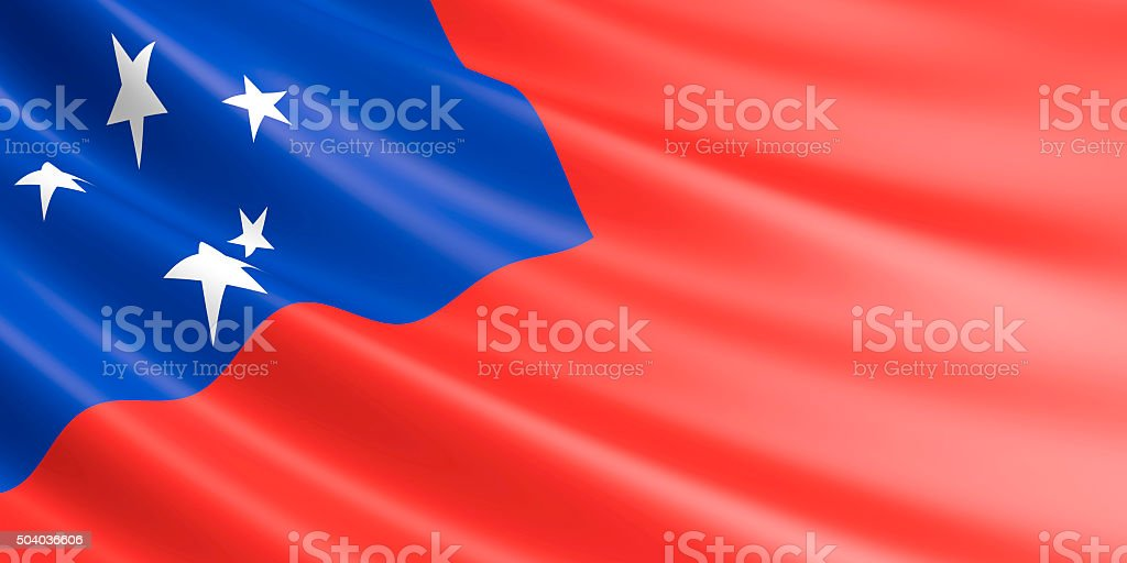 Flag of Samoa waving in the wind. royalty-free stock photo