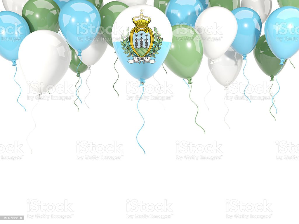 Flag of san marino on balloons stock photo