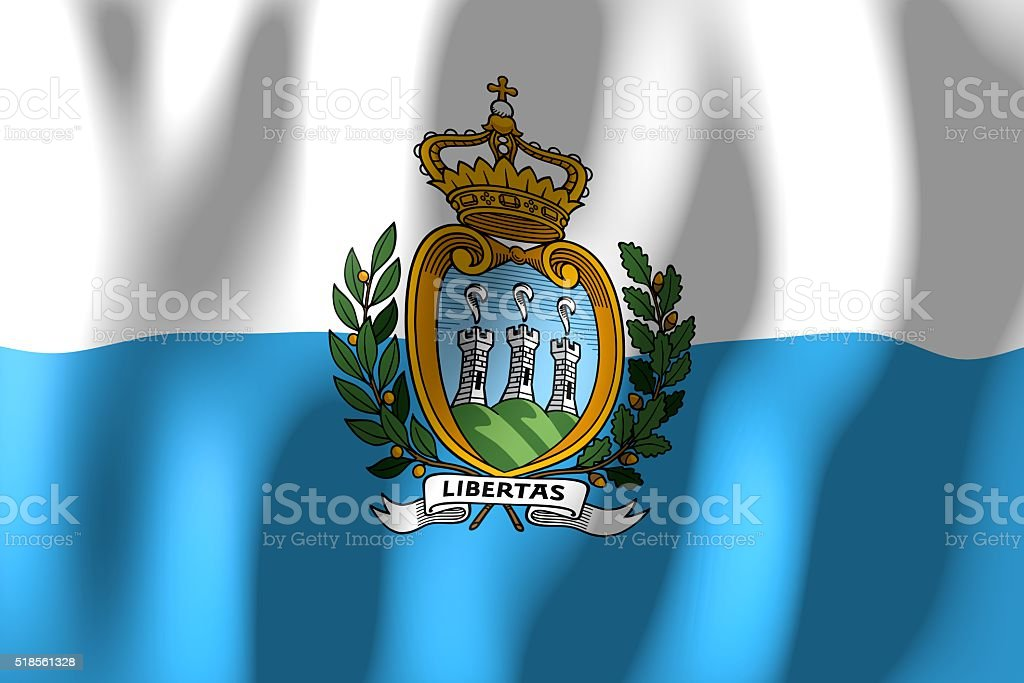 Flag of San Marino stock photo