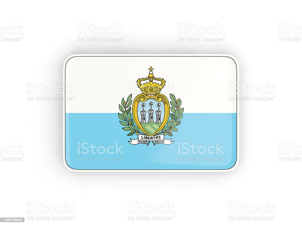 Flag of san marino, rectangular icon stock photo