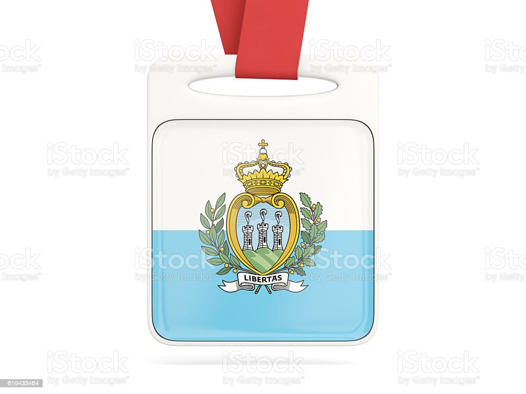 Flag of san marino, square card stock photo
