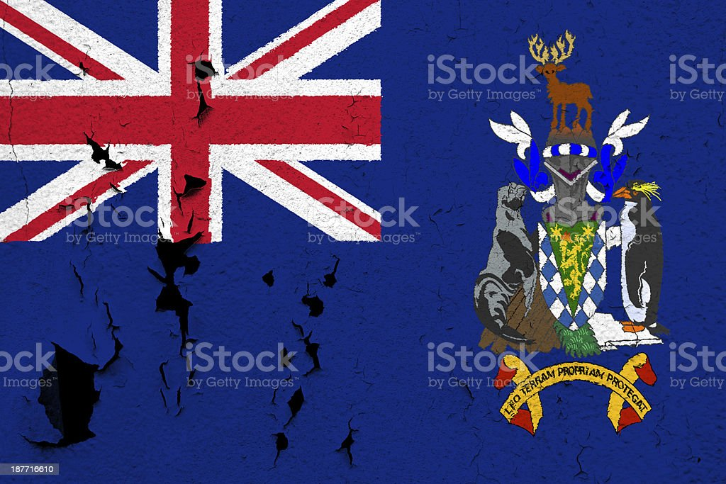 Flag of Sandwich Islands stock photo