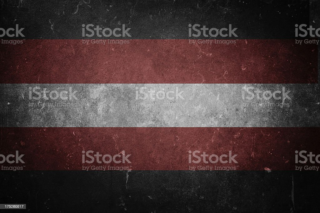Flag of Satanism royalty-free stock photo
