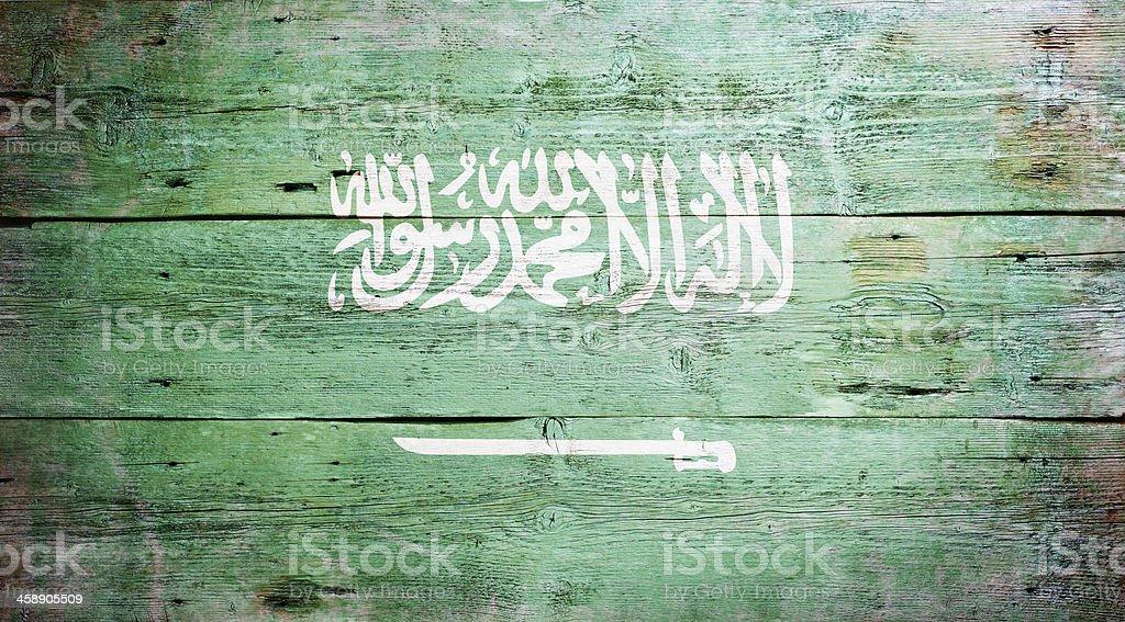 Flag of Saudi Arabia royalty-free stock photo