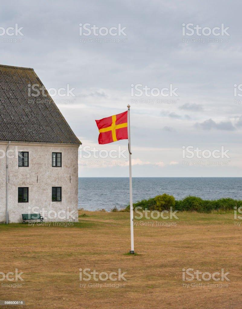 Flag of Scania stock photo